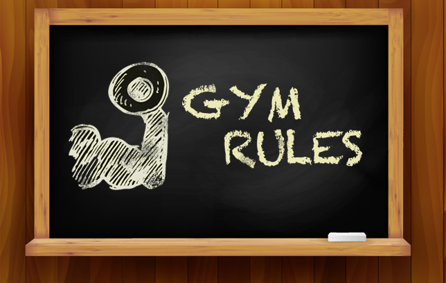 Gym rules are your cue to run